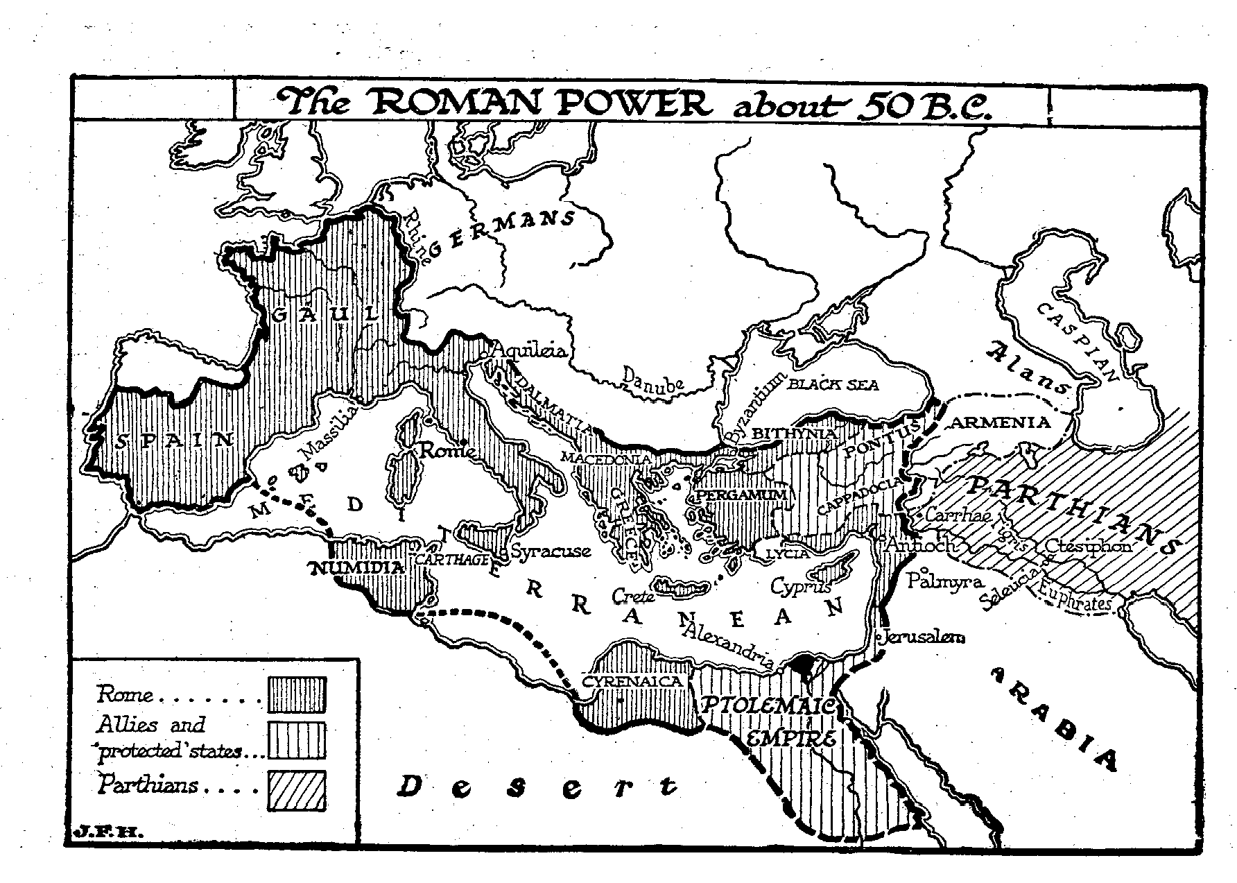 The Era Of The Adventurer Generals The Outline Of History - Ancient rome map outline