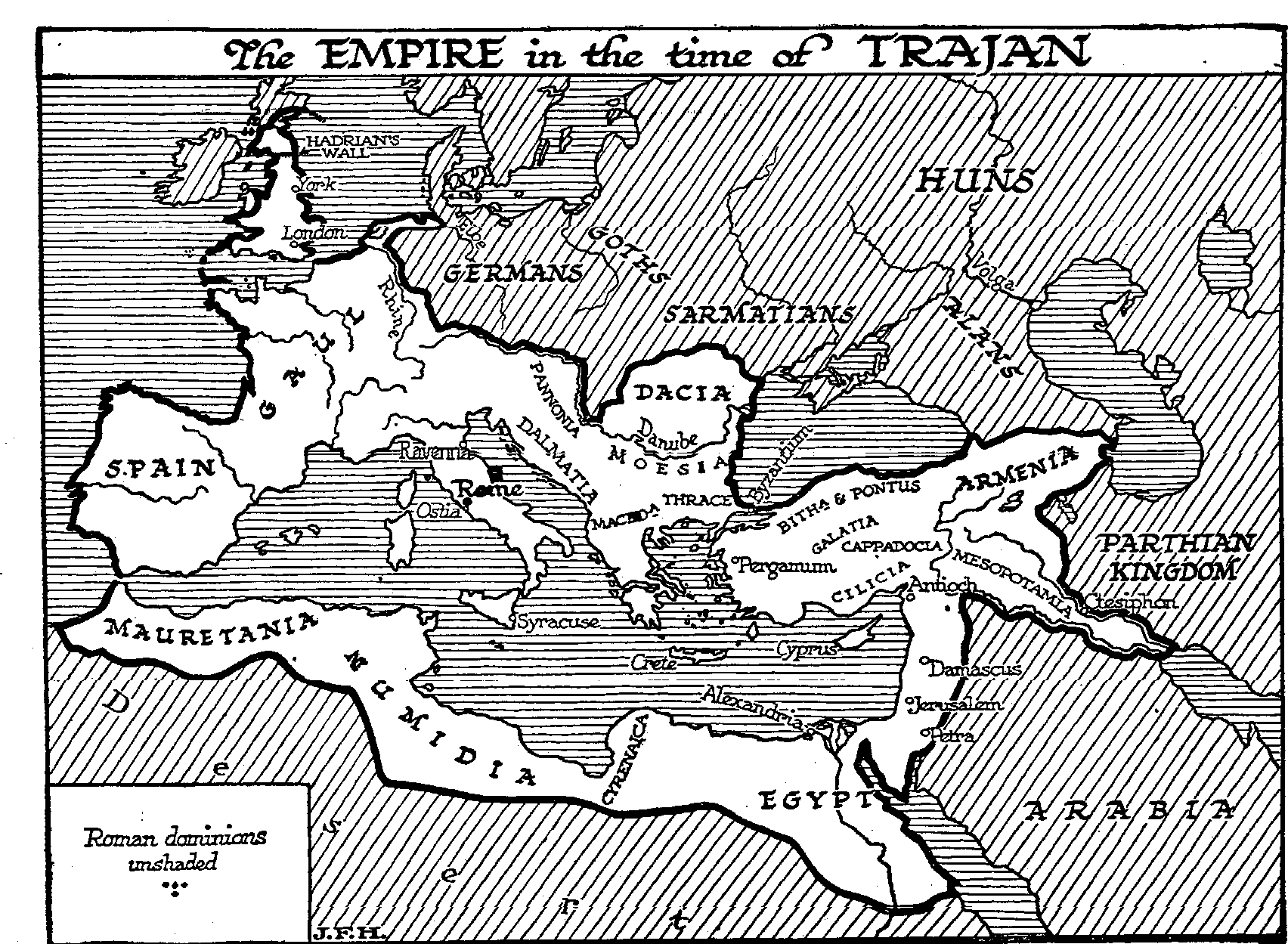 A Short Catalogue Of Emperors The Outline Of History By - Map of rome under trajan