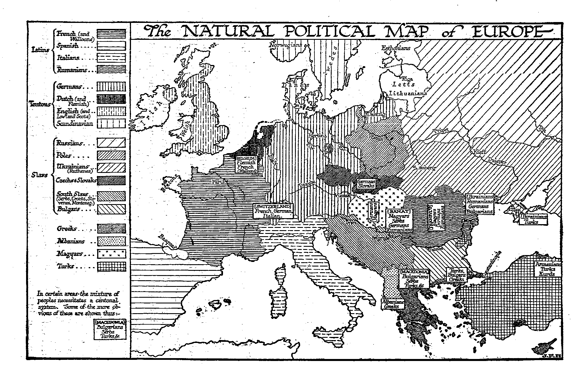 37.6 The Map of Europe in 1815 — The Outline of History by H. G. Wells