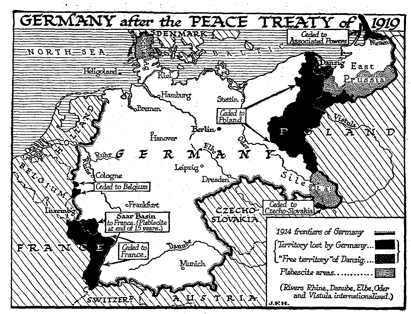 the meaning of the leage of nations and the treaty of versailles Danzig became a free city controlled by the league of nations of nations were part of the terms of the treaty the treaty of versailles and the league.
